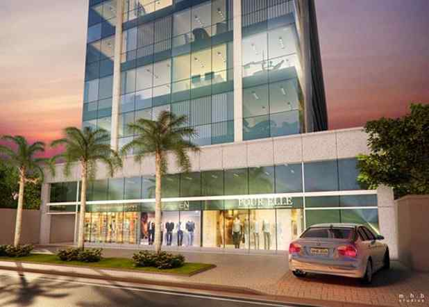 Imagem ilustrativa da vista das lojas do Advance Offices e parte do prédio
